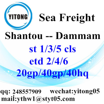 Shantou Sea Freight Logistics Services to Dammam