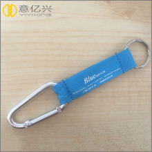 High Permance for Custom Rubber Keychains Custom Logo Printed Promotional Aluminum Carabiner Keychain export to France Supplier