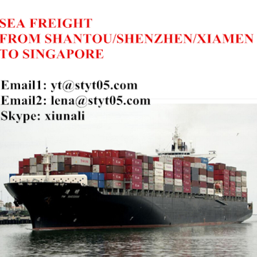 Bottom price for Shipping Cruises to Southest Asia Shantou to Singapore​ sea shipping timetable export to South Korea Factory