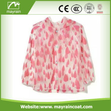 Transparent with dots PVC Raincoat