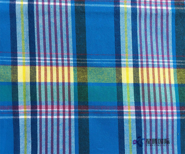 100% Cotton Yarn Dyed Check Weaving Fabric