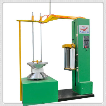 Multi-pieces tyres stretch wrapping machine