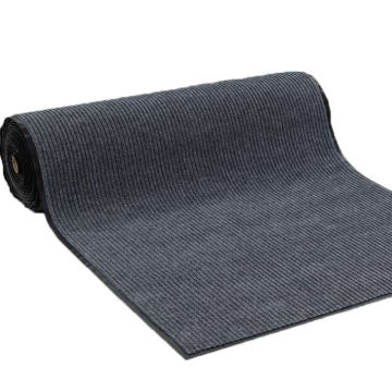 Factory supply 100% polyester twin ribbed door mat