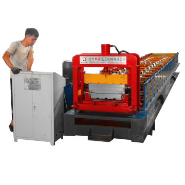 Aluminum sheet standing seam metal roof machine