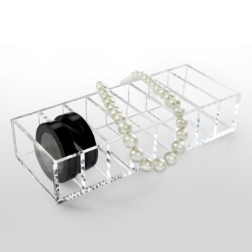 Clear Acrylic Makeup Compact Organizer