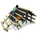 Outdoor Wooden Climbing Playhouse Playground For Children