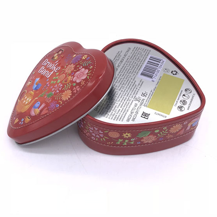 Custom Heart Shape Tin Gift Box For Packaging