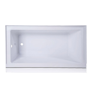 Studio White Acrylic Rectangular Drop-in Bathtub