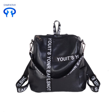 Fashionable schoolbag PU travel bag for girls