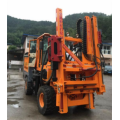 Environment-Friendly guardrail piling machine