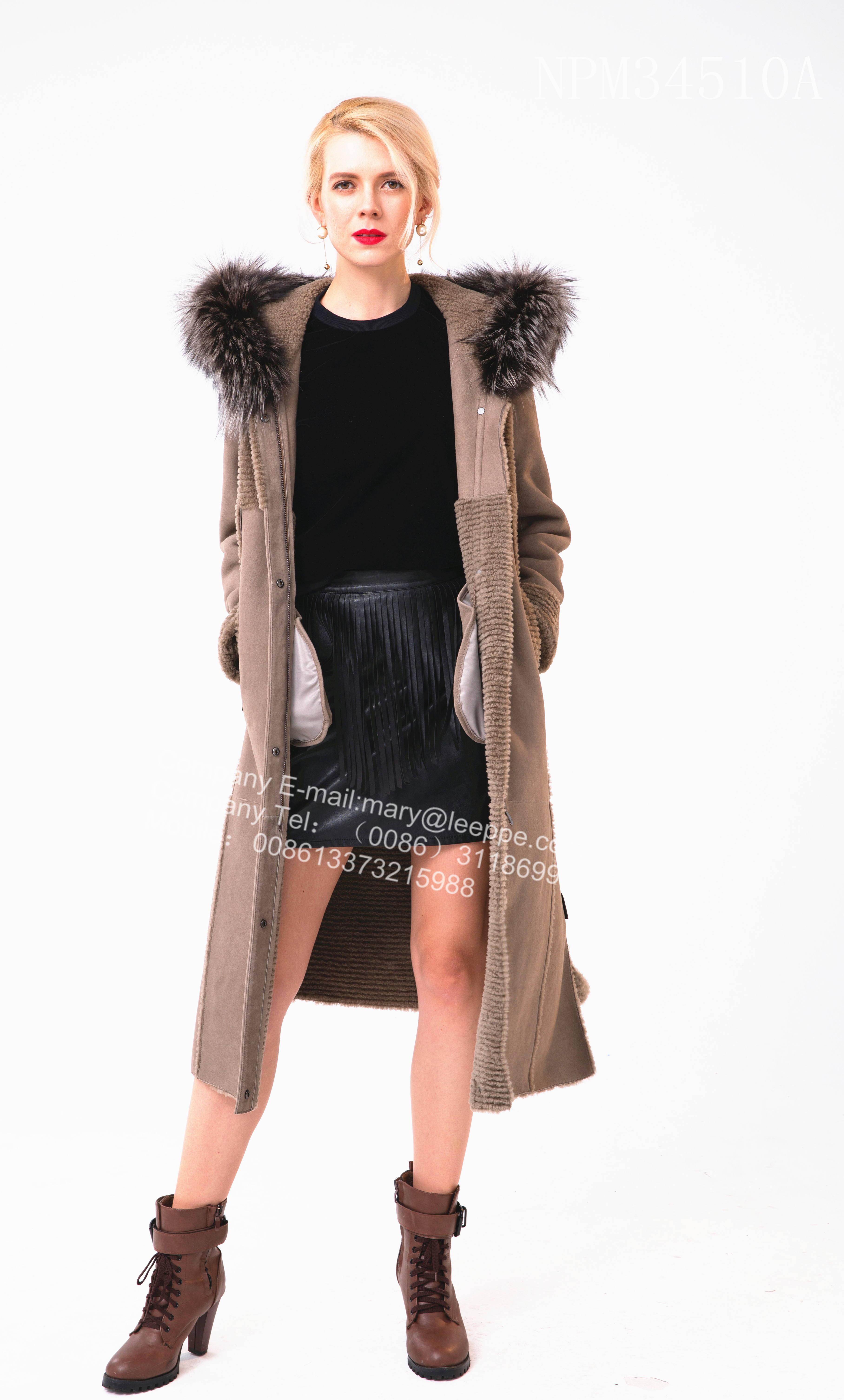 Shorn Sheepskin Fur Windbreaker