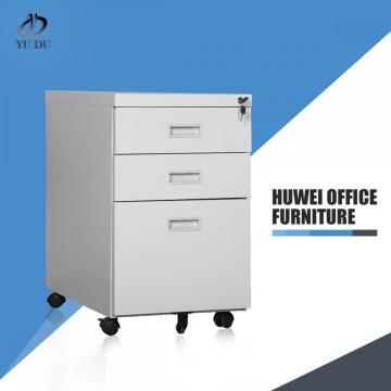 Steel file storage 3 drawer mobile pedestal cabinet