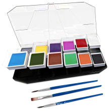 Water Actived Professional Face and Body Paint Palette