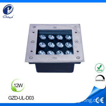 Recessed ground lighting 12W inground buried light