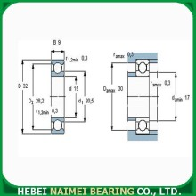 Low Noise Deep Groove Ball Bearing 6002