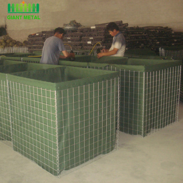 Military Sand Wall Hesco Barriers For Defensive Firing