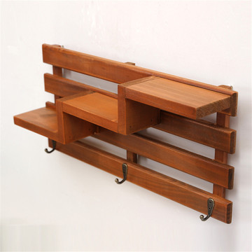 Small Firm Office Wooden  Shelf With Hanging