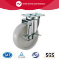 3'' Swivel Industrial PP Caster With Side Brake