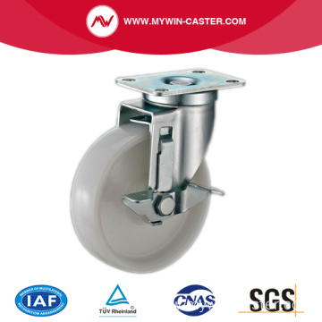 85mm Swivel Industrial PP Caster With Side Brake
