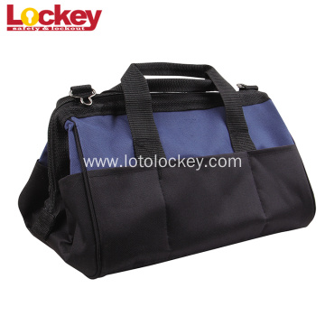 Blue Black Portable safety lockout Tool bag