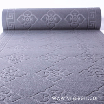 Soft velour embossed dust resistant floor mat