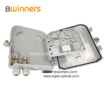 Wall Mount 8 Ports Fiber Optic Termination Box
