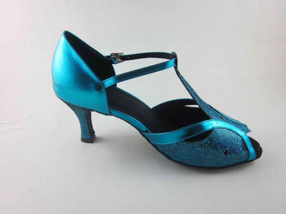 Blue Girls Latin Shoes