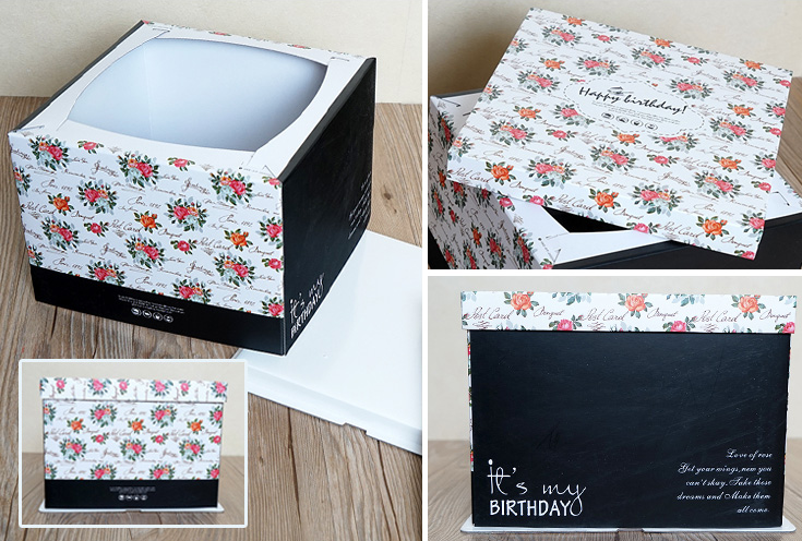 cardboard birthday cake packaging box