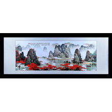 China for Hand Embroidered Landscape Painting Hand Embroidered Landscape Painting export to Greenland Manufacturer