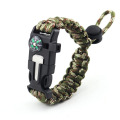 Wide Firefighter Paracord Bracelet With Compass