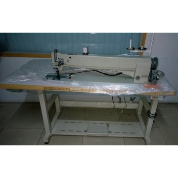 Long Arm Double Needle Compound Feed Heavy Duty Sewing Machine