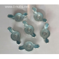 Furniture White Zinc Plated Wing Nuts