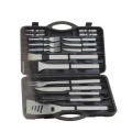 20pcs silvery BBQ set in plastic box