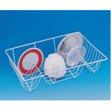 China for Dish Drainer Rack Single Tier Coated Dish Basket supply to United States Manufacturer