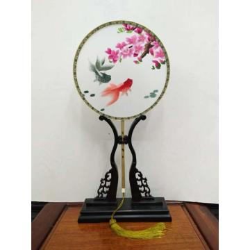 Handmade Double-sided Embroidery Fan