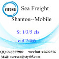 Shantou Port LCL Consolidation To Mobile