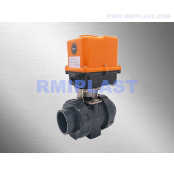 UPVC electric ball valve 24VDC