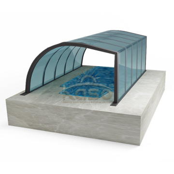 Telescopic Enclosure Transparent Swimming Pool Cover