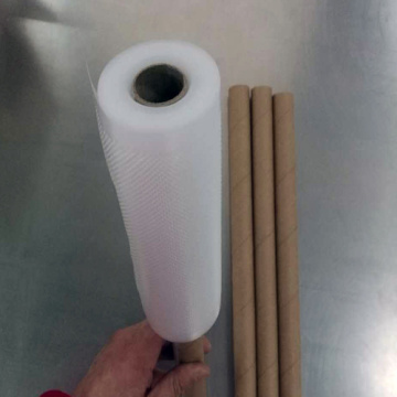 Disposable transparent embossed vacuum