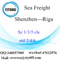 Shenzhen Port LCL Consolidation To Riga