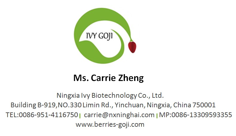 GOJI BERRY NAME CARD