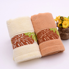 Brown with Double Satin Best Quality cotton Towels