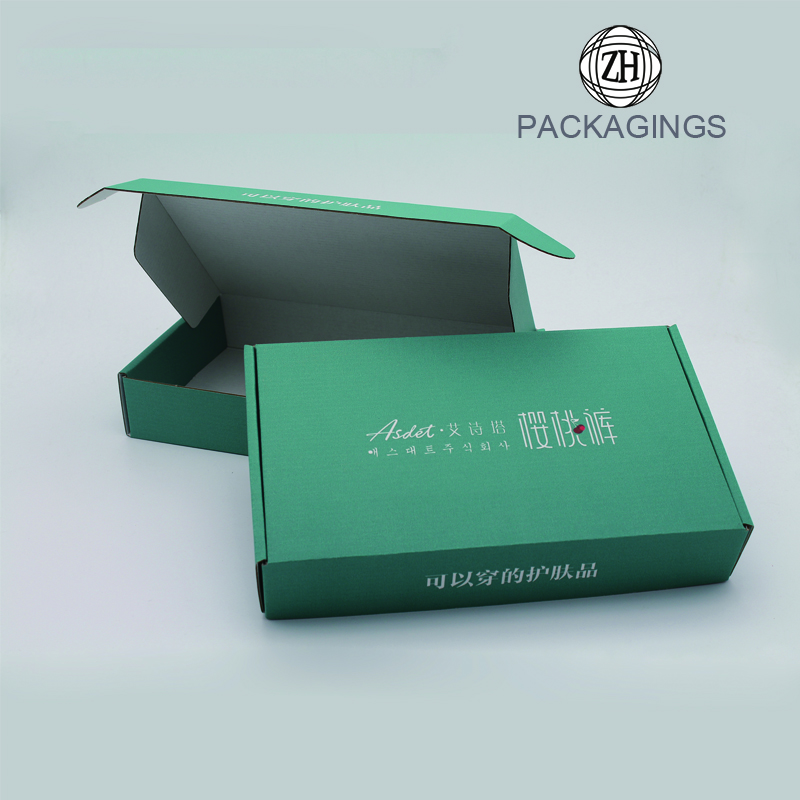 New designed black shipping packaging box