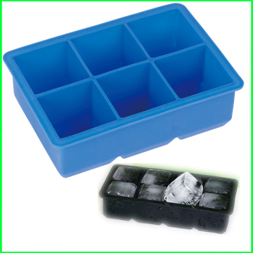 Custom Popular Silicone 6 Cavities Ice Cube Tray