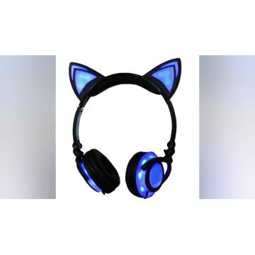 Glowing Cat Ear Headphones With Good Quality Assurance