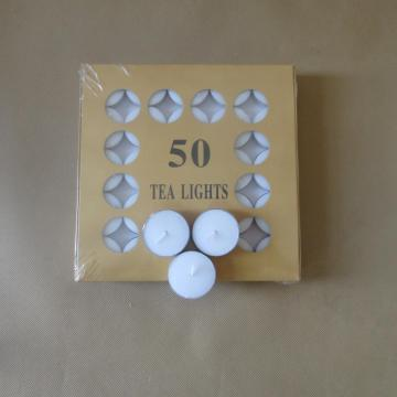 50Pcs Box Pack 14G Snow Tealight Candle