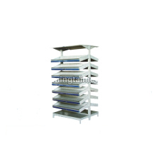 Double-sided adjustable pharmacy shelf