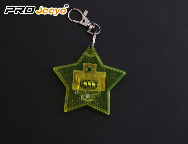 2 LED Light Reflective Star Hanger Key chain for Children Bag RB-503D 6