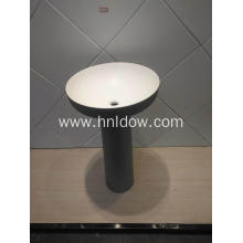 Pedestal black pure acrylic washbasin for hotel