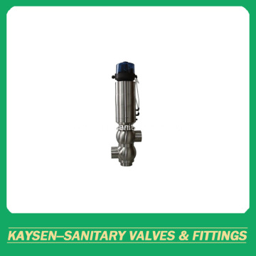 Sanitary 3 ways double seat mixproof valves Weld